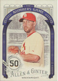2016 Allen & Ginter - Adam Wainwright The Numbers Game #NG-59