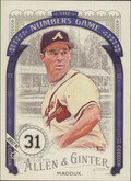 2016 Allen & Ginter - Greg Maddux The Numbers Game #NG-80