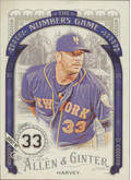 2016 Allen & Ginter - Matt Harvey The Numbers Game #NG-37