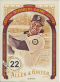 2016 Allen & Ginter - Robinson Cano The Numbers Game #NG-77