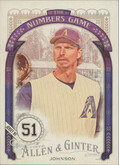2016 Allen & Ginter - Randy Johnson The Numbers Game #NG-26