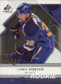 2008-09 SP GAME USED - CHRIS PORTER #162 ROOKIE 6/999
