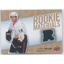 2007-08 UPPER DECK - DREW MILLER #RM-DM ROOKIE MATERIALS