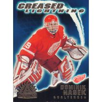 2001-02 ADRENALINE - DOMINIK HASEK #6 CREASED LIGHTNING