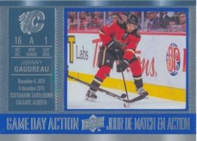 2016-17 TIM HORTONS - JOHNNY GAUDREAU #GDA-3 GAME DAY ACTION