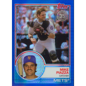 2018 Topps - Mike Piazza '83 Topps Silver Pack Chrome Refractors Blue #106 90/150