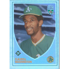 2002 Super Teams - Claudell Washington Retrofractors #124 1656/1974