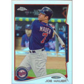 2014 Topps Chrome - Joe Mauer Refractors #144