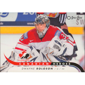 2009-10 O-PEE-CHEE - DWAYNE ROLOSON #CB-DR CANADIAN HEROES