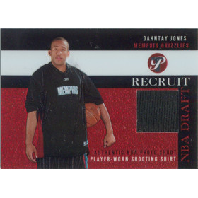 2003-04 Topps Pristine - Dahntay Jones Recruit Relics #PR-DJ