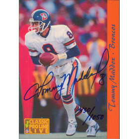 1993 Pro Line Live - Tommy Maddox Autographs #23 430/1050