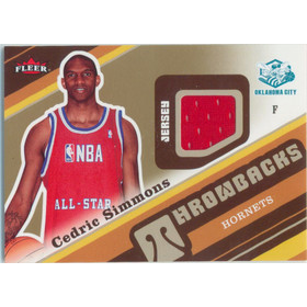 2006-07 Fleer - Cedric Simmons Throwbacks #T-SI