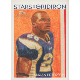 2009 National Chicle - Adrian Peterson Stars of the Gridiron #SG-3