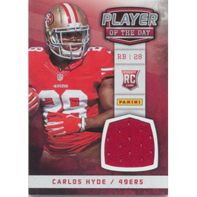 2014 Player of the Day - Carlos Hyde Rookie Materials #CH