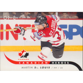 2009-10 O-PEE-CHEE - MARTIN ST. LOUIS #CB-MS CANADIAN HEROES