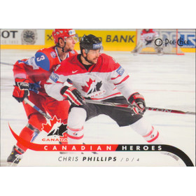 2009-10 O-PEE-CHEE - CHRIS PHILLIPS #CB-CP CANADIAN HEROES