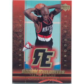 2003-04 Rookie Exclusives - Travis Outlaw Jerseys #J19