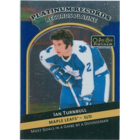 2017-18 OPC PLATINUM - IAN TURNBULL #PR-8 PLATINUM RECORDS