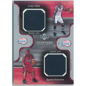 2002-03 Ovation - Lamar Odom/Quentin Richardson Authentics Warm-Ups Dual #LO/QR