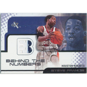 2001-02 E-X - Steve Francis Behind the Numbers Jersey #5