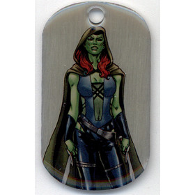2016 Marvel Dossier Dog Tags - Gamora #47 SP!