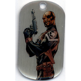2016 Marvel Dossier Dog Tags - Nick Fury #51 SP!