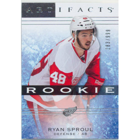2014-15 ARTIFACTS - RYAN SPROUL #148 ROOKIE 283/999