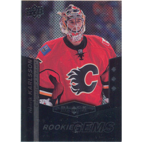 2010-11 BLACK DIAMOND - HENRIK KARLSSON #178 ROOKIE GEMS TRIPLE DIAMOND
