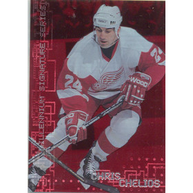 1999-00 BE A PLAYER MILLENNIUM - CHRIS CHELIOS #91 RUBY 919/1000