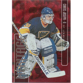 1999-00 BE A PLAYER MEMORABILIA - CURTIS JOSEPH #H-13 ALL-STAR HERITAGE RUBY 64/1000
