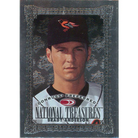 1997 Donruss Preferred - Brady Anderson National Treasures Silver #193