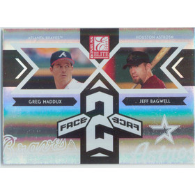 2005 Donruss Elite - Greg Maddux/Jeff Bagwell Face 2 Face #FF-2 1370/1500