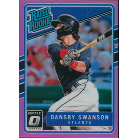 2017 Donruss Optic - Dansby Swanson Rated Rookie Pink #33
