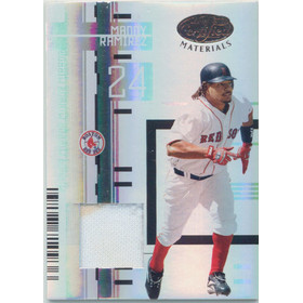 2005 Leaf Certified Materials - Manny Ramirez Mirror Fabric White #99 61/100