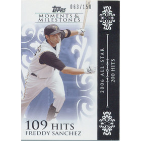 2008 Topps Moments & Milestones - Freddy Sanchez #108 109 Hits 63/150