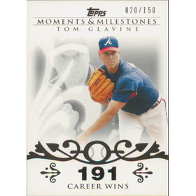 2008 Topps Moments & Milestones - Tom Glavine #137 191 Career Wins 20/150