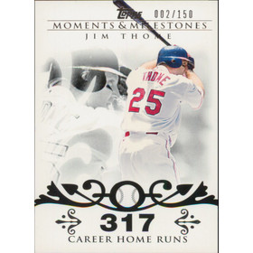 2008 Topps Moments & Milestones - Jim Thome #85 317 Career Homeruns 2/150