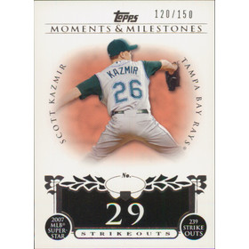2008 Topps Moments & Milestones - Scott Kazmir #107 29 Strikeouts 120/150