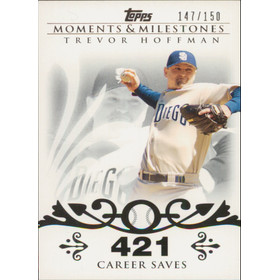 2008 Topps Moments & Milestones - Trevor Hoffman #32 421 Career Saves 147/150