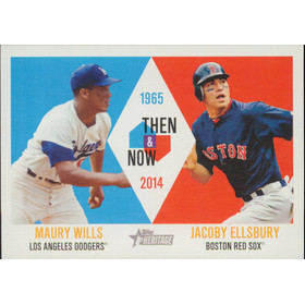 2014 Topps Heritage - Maury Wills/Jacoby Ellsbury Then & Now #TAN-WE