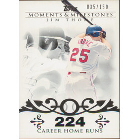2008 Topps Moments & Milestones - Jim Thome #85 224 Career Homeruns 35/150