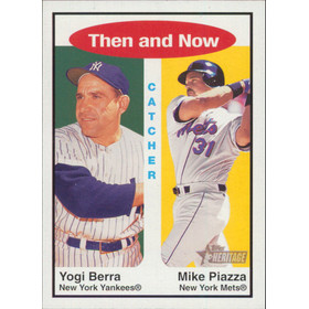 2001 Topps Heritage - Yogi Berra/Mike Piazza Then and Now #TH1