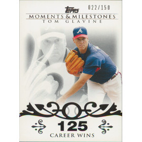 2008 Topps Moments & Milestones - Tom Glavine #137 125 Career Wins 22/150