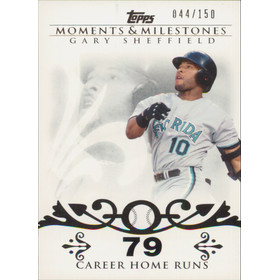 2008 Topps Moments & Milestones - Gary Sheffield #52 79 Career Homeruns 44/150