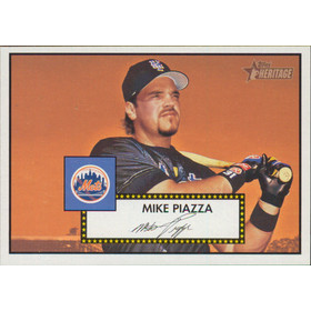 2001 Topps Heritage - Mike Piazza #405 SP!