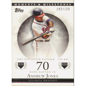 2007 Topps Moments & Milestones - Andruw Jones #94 70 Runs Batted In 142/150