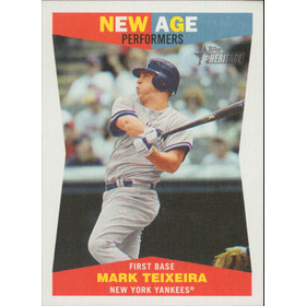2009 Topps Heritage - Mark Teixeira New Age Performers #NAP3