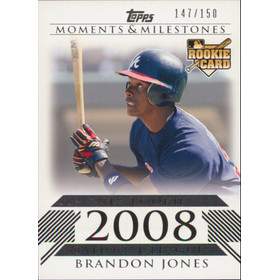 2008 Topps Moments & Milestones - Brandon Jones #188 Rookie 147/150