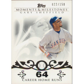 2008 Topps Moments & Milestones - Gary Sheffield #52 64 Career Homeruns 22/150