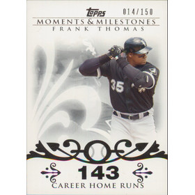 2008 Topps Moments & Milestones - Frank Thomas #3 143 Career Home Runs 14/150